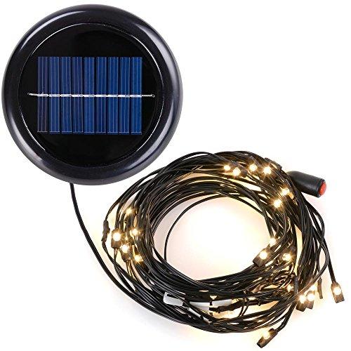 Yescom 48 Led Solar String Light For 10 Ft 8 Rib Outdoor Patio Offset Aluminum Umbrella warm White