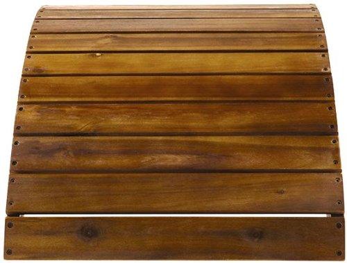 "Acacia Wood Adirondack Ottoman, 14h X 21.5w X 20""d, Natural Teak"