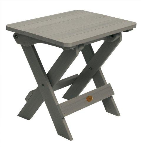 Highwood Folding Adirondack Side Table, Coastal Teak