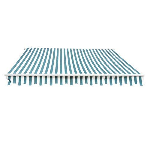 Outsunny Patio Manual Retractable Sun Shade Awning 10 X 8-feet Greenwhite