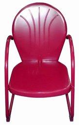 Ben&Jonah Eclipse Patio Merlot Metal Tulip Chair 22 W X 265 D X 335 H
