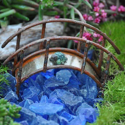 Fairy Garden Bridge - Antiqued