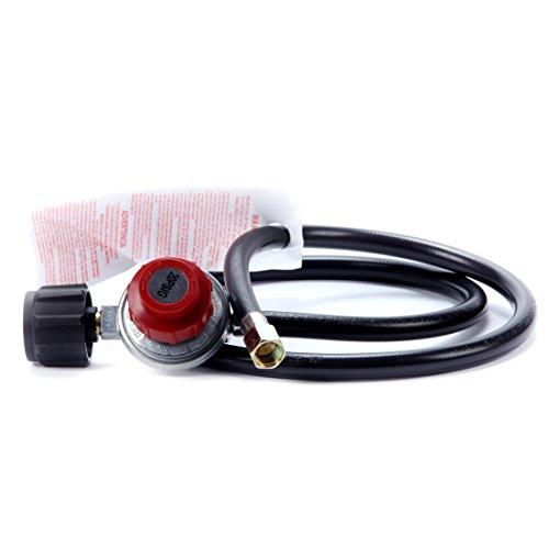 8milelake Adjustable Propane Gas Regulator Bbq Grill Burner Wok Fryer 4ft Hose 20psi