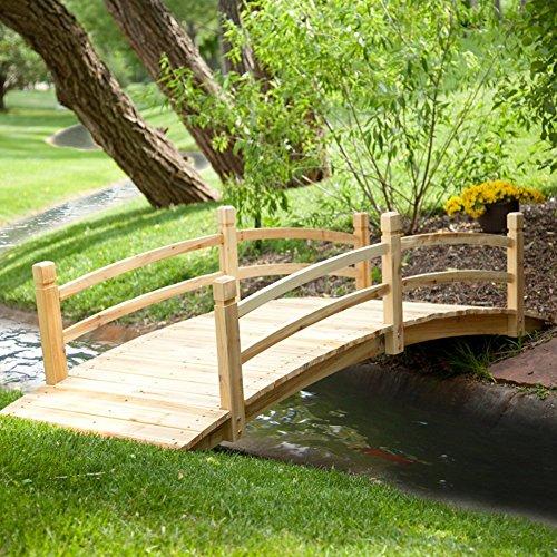 Coral Coast Harrison 8-ft Wood Garden Bridge