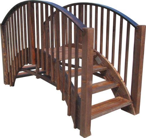SamsGazebos 8 Japanese Wood Garden Bridge Treated
