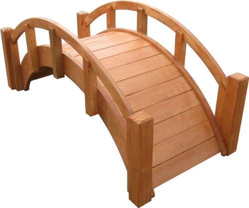 Samsgazebos Miniature Japanese Wood Garden Bridge 25&quot L Watersealed Assembled