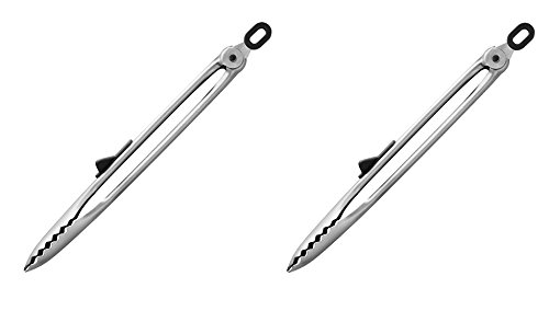 Stainless Steel Pro BBQ Tongs Set of 2