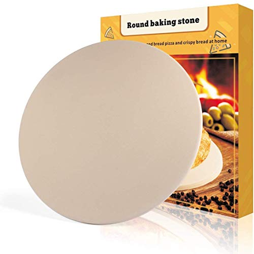 PentaBeauty Pizza Stone 16x 16 Round Engineered Tuff Cordierite Durable Baking Stones for Ovens Grill BBQ Stone Oven Round Pizza Stone