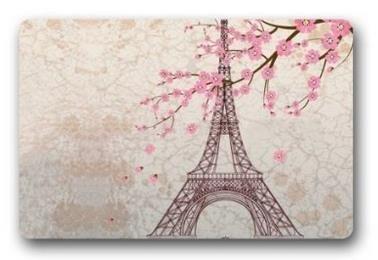 Beautiful Paris Eiffel Tower Customized Novelty Rug Bathroom Carpets Doormat Indoor or Outdoor Floor Door Mat 236x157 Inches