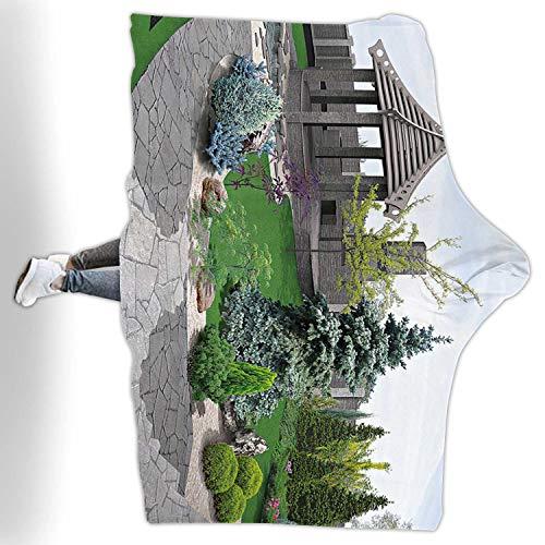 CUDEVS Alfresco Living AreaFleece Blanket King Size3D Render60W x 50H