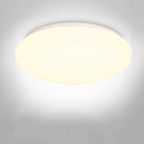 Albrillo LED Ceiling Light Flush Mount 150W Equivalent 1400lm 10 Round Ceiling Light Fixture for Bathroom Closet Hallway Pantry Garage Warm White 3000K