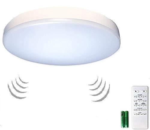 Premium 14 Flush Mount LED Ceiling Light Fixture with Motion Sensor Remote Control Timer - Dimmable Adjustable Light Color Warm 2700K-5000K Cool - Bedroom Dining Room Bathroom and Closet