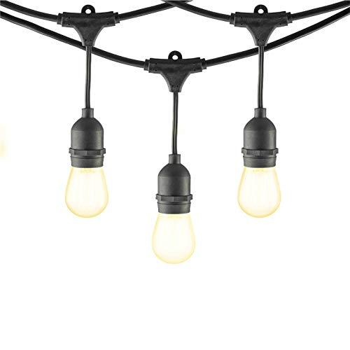 Mr Beams 2W S14 Bulb LED Weatherproof Outdoor String Lights 24 feet Black