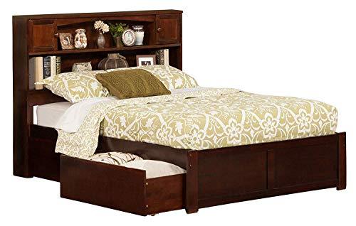 Atlantic Furniture AR8532114 Newport Platform 2 Urban Bed Drawers Full Walnut Double
