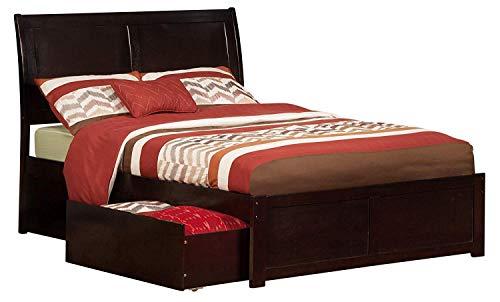 Atlantic Furniture AR8932111 Portland Platform Bed with 2 Urban Bed Drawers Full Espresso