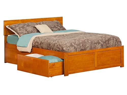 Atlantic Furniture Orlando Platform 2 Urban Bed Drawers Full Caramel