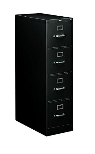 HON 214PP 210 Series 28-12-Inch 4-Drawer Full-Suspension Letter File Black