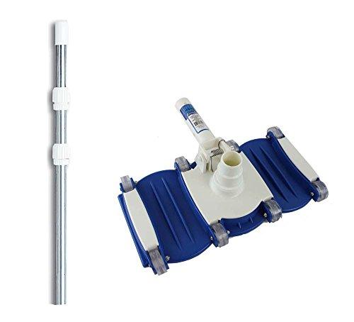 Hydrotools 8150 Swimming Pool Vacuum Cleaner Vac Head w 4-12 Telescopic Pole