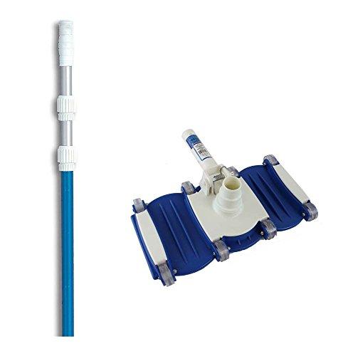 Hydrotools 8150 Swimming Pool Vacuum Cleaner Vac Head w 7-21 Telescopic Pole