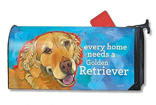 Mailwraps Golden Retriever Dog Magnetic Mailbox Cover