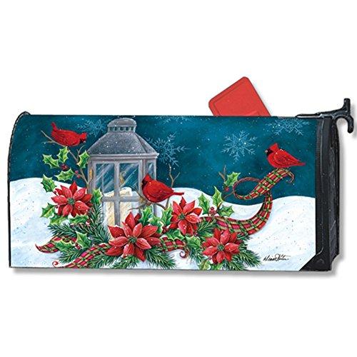 Cardinal Christmas Large Mailbox Cover Lantern Holiday Birds Oversized MailWraps