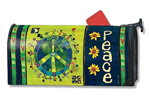 Mailwraps Enter In Peace Mailbox Cover 01119