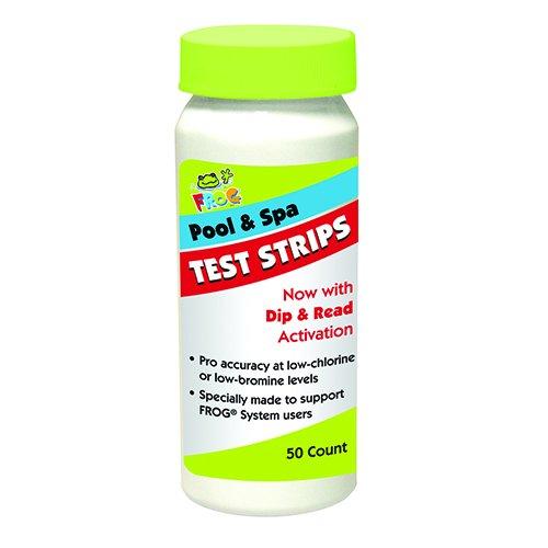 Spa Frog 4-way 50 Ct Swimming Poolspa Water Test Strips Kit Chlorine Bromine Ph