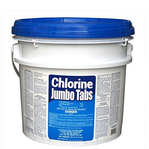 25 lb Bucket 3 Chlorine Tablets Tabs Swimming Pool Sanitizer 99 Tri-Chlor