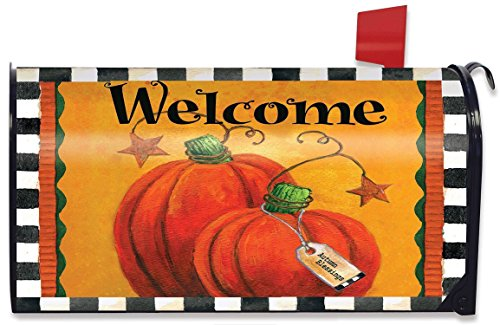 Pumpkin Autumn Welcome Primitive Mailbox Cover Fall Standard Briarwood Lane