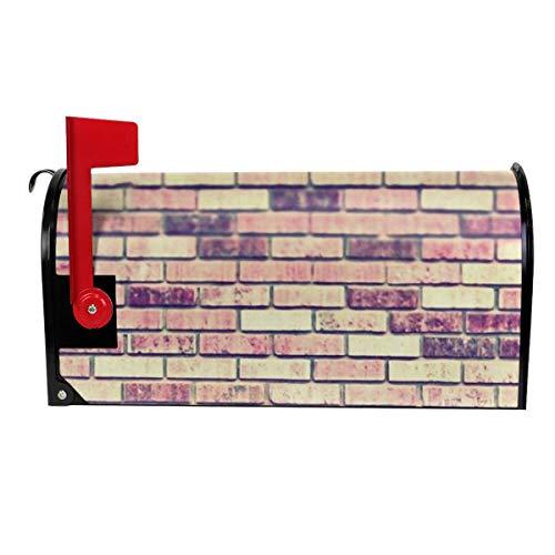 QPKML Vintage Brick Wall Meets US Postal Requirements Magnetic Mailbox Cover - 21 W X18 L255 W X21 L