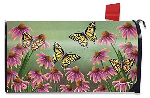 Echinacea Butterfly Spring Mailbox Cover Monarch Butterflies Floral Standard