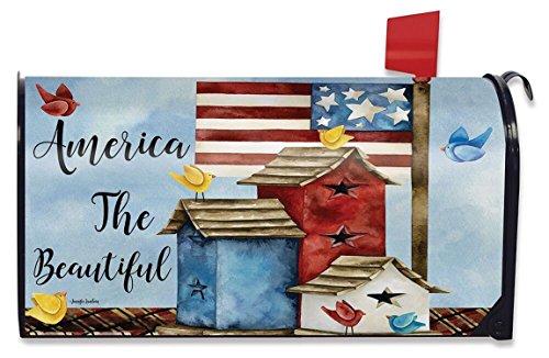 Freedom Birdhouses Spring Mailbox Cover Patriotic Primitive Briarwood Lane