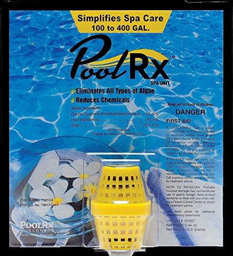 PoolRx 101057 Yellow Spa Unit Swimming-Pool-Algaecides 100-400 gallon