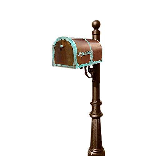 Qualarc Provincial Brass Mailbox with Lewiston Post