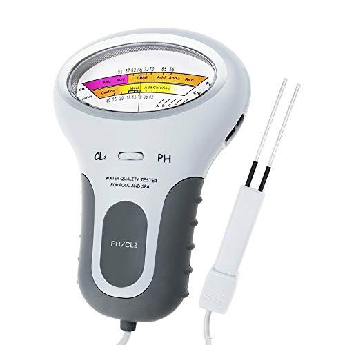 Aslion Portable Digital Monitor Ph Water Tester Meter Analysis Chlorine Swimming Pool Test Kit