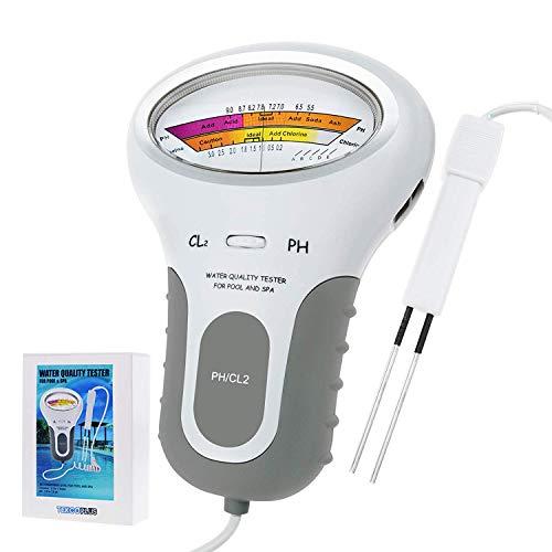 kebyy Portable Water Ph Quality Tester Digital Monitor Meter Analysis Chlorine Swimming Pool Test Kit