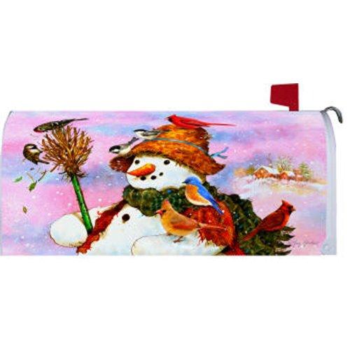 Custom Decor Woodland Snowman Mailbox Cover