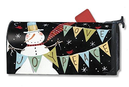 Mailwraps Snowman Celebration Mailbox Cover 06352