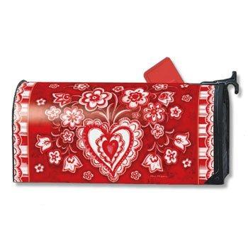 MailWraps Folk Valentine Mailbox Cover 02628
