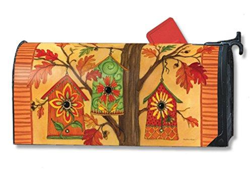 Mailwraps Fall Birdhouses Mailbox Cover 01024