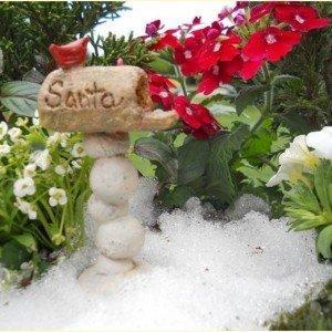 Miniature  Fairy Garden Santa Mailbox cw Pick
