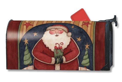 Santas Gift Christmas Mailbox Cover Ups Magnetic Mailbox Cover
