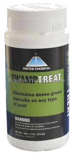United Chemicals SWAM-C12 Swamp Treat Pool Algae Eliminator 1-Pound