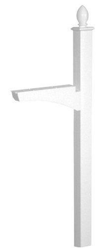 Architectural Mailboxes Coronado In-ground Decorative Mailbox Post White by ARCHITECTURAL MAILBOXES