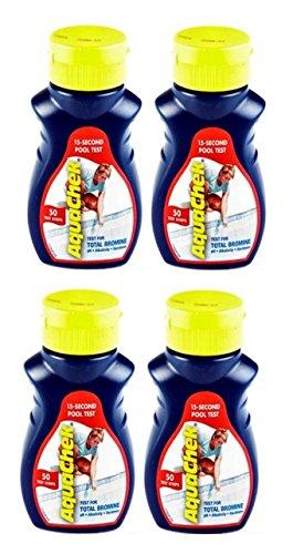 4 AQUACHEK Red Swimming Pool Spa Test Kit Strips Bromine pH Alkalinity 50 pack