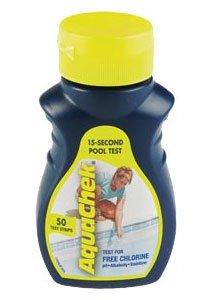 New AQUACHEK Yellow Swimming Pool Spa Chlorine 4 in 1 Test Strips Aquacheck 50pk
