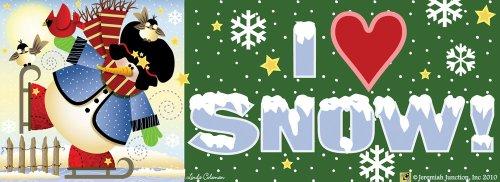 Skating Snowman Art-Snaps Magnetic Mailbox Art