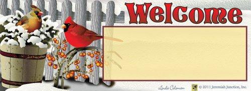 Winter Cardinals Art-snaps&reg Magnetic Mailbox Art