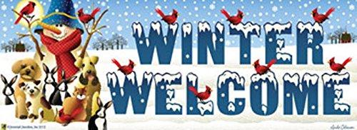 Winter Friends Snowman Art-SnapsMagnetic Mailbox Art