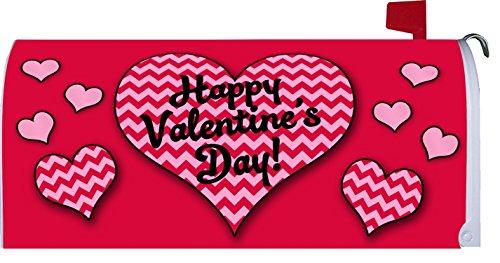 Chevron Valentine  - Happy Valentines Day - Mailbox Makeover Vinyl Magnetic Cover